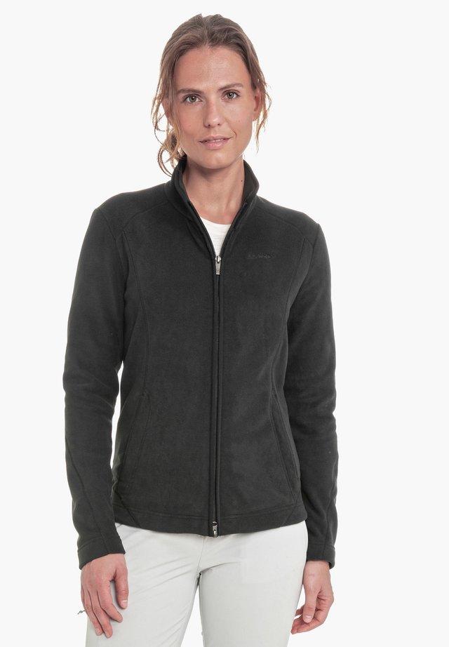 LEONA - Fleece jacket - black