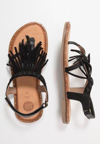 SAVONA - T-bar sandals - black