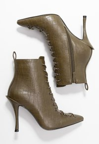 BEBO - LEGACY - High heeled ankle boots - khaki - 3