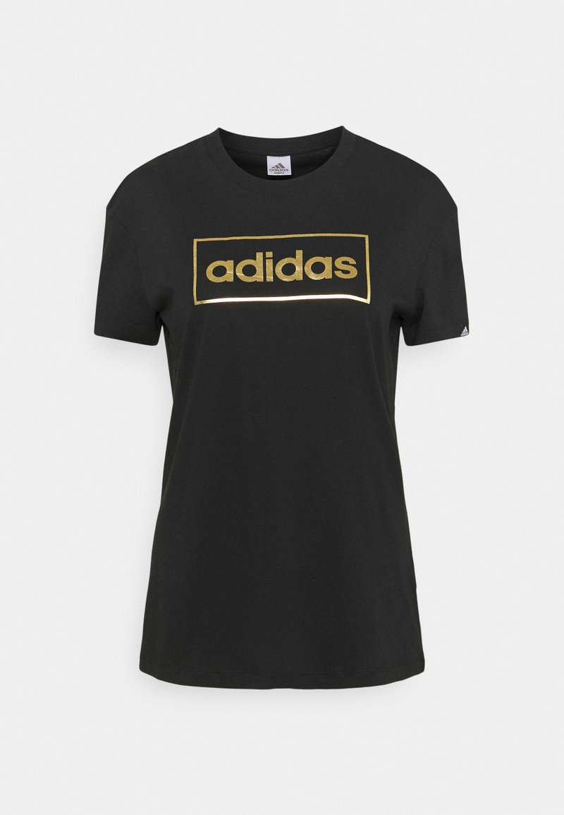 adidas Performance - Print T-shirt - black/gold