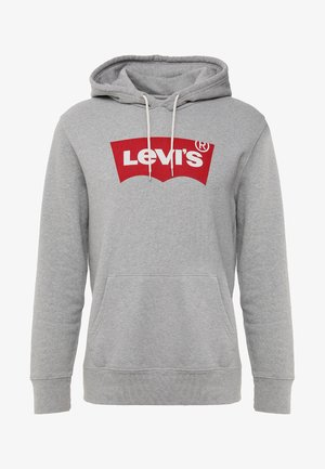 GRAPHIC HOODIE - Luvtröja - midtone heather grey