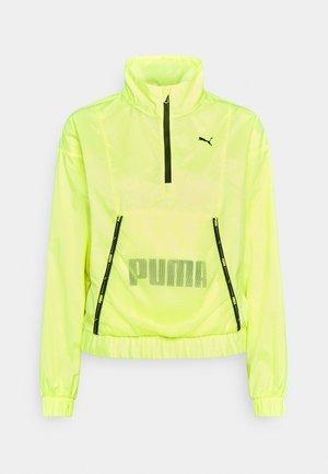 TRAIN LOGO QUARTER  - Chaqueta de entrenamiento - soft fluo yellow