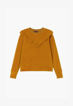 CREWNECK WITH RUFFLE YOKE - Sweater - golden sun