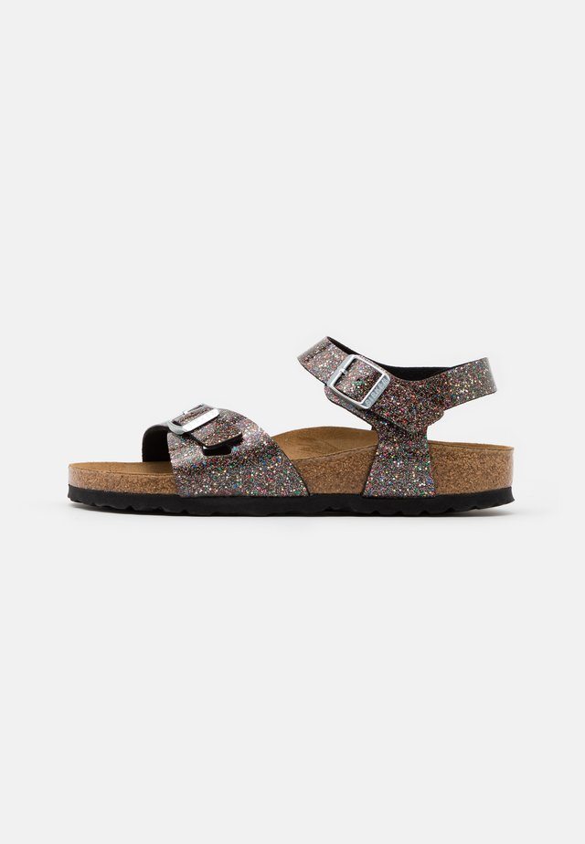 RIO - Sandali - cosmic sparkle black/multicolor