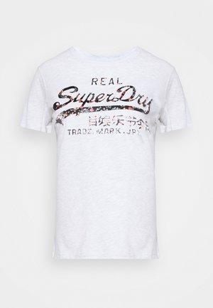 INFILL TEE - T-shirts med print - light grey