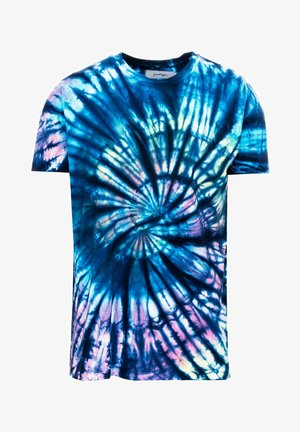 MEN'S  TIE DYE - Print T-shirt - blue
