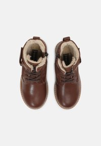 Friboo - LEATHER - Lace-up ankle boots - dark brown - 3