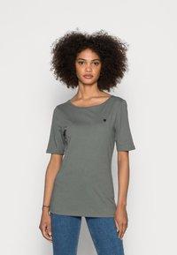 Marc O'Polo - SHORT SLEEVE ROUND NECK - Basic T-shirt - olive garden - 0