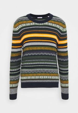 COLORED O-NECK - Jumper - total eclipse