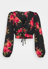 New Look - ROSY RUCH FRONT SHELL - Blouse - black - 0