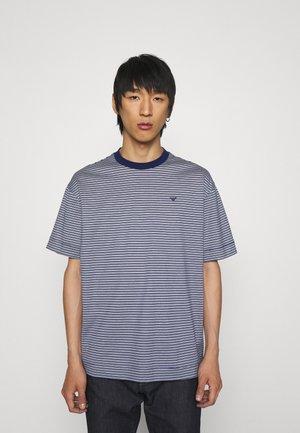 T-shirt imprimé - dark blue/white