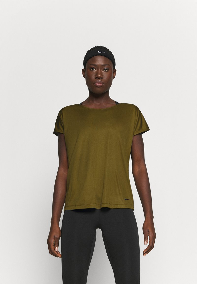 Nike Performance - DRY ELASTIKA - Camiseta de deporte - olive flak/volt/black