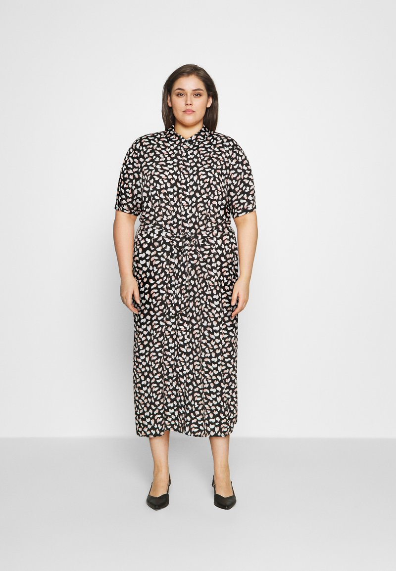 Anna Field Curvy - Day dress - black/pink/white