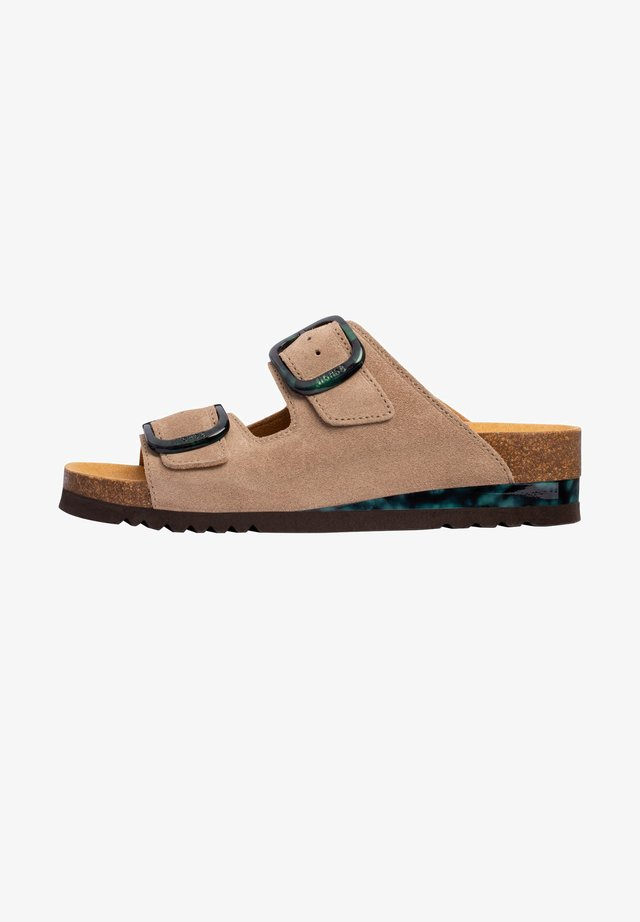 Sandalen met sleehak - braun