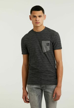 TODAY - Print T-shirt - dark grey