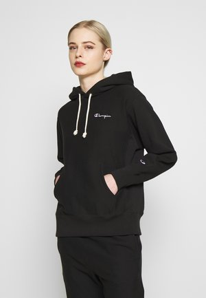 HOODED - Kapuzenpullover - black