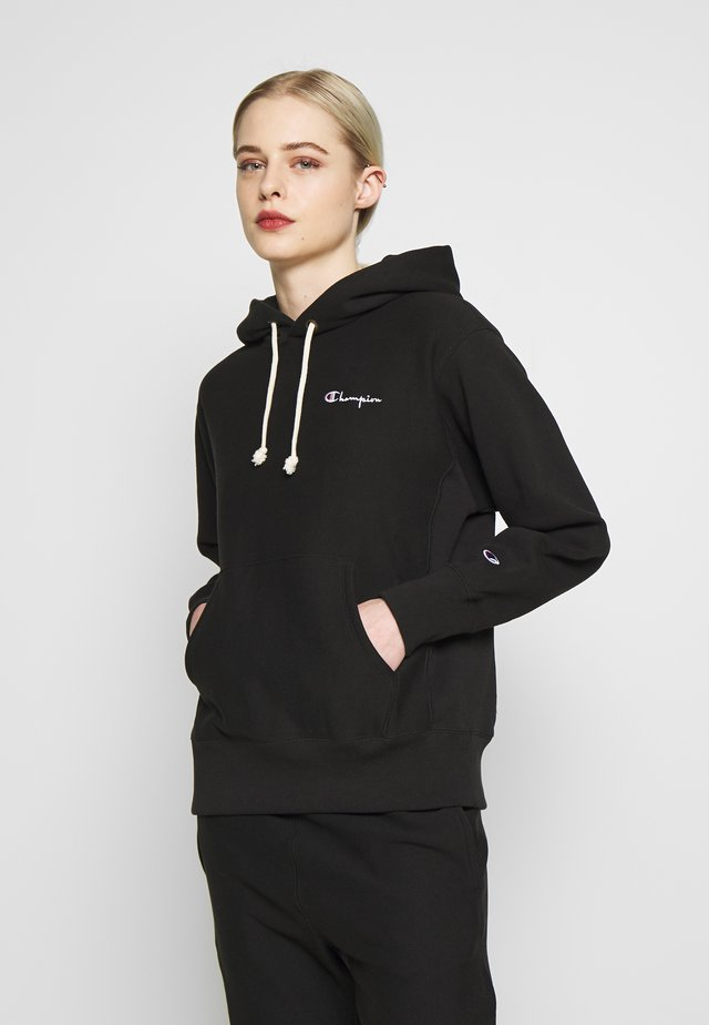 HOODED - Luvtröja - black