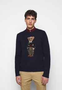 Polo Ralph Lauren - BLEND - Strickpullover - dark blue/multicolor - 0