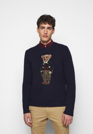 BLEND - Strickpullover - dark blue/multicolor