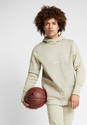 BASELINE  - Sweat à capuche - range khaki medium heather/onyx white