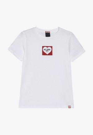 SHORT SLEEVE TEE WITH SEASONAL ARTWORKS - Print T-shirt - white