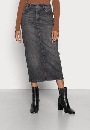 Denim skirt - black medium wash