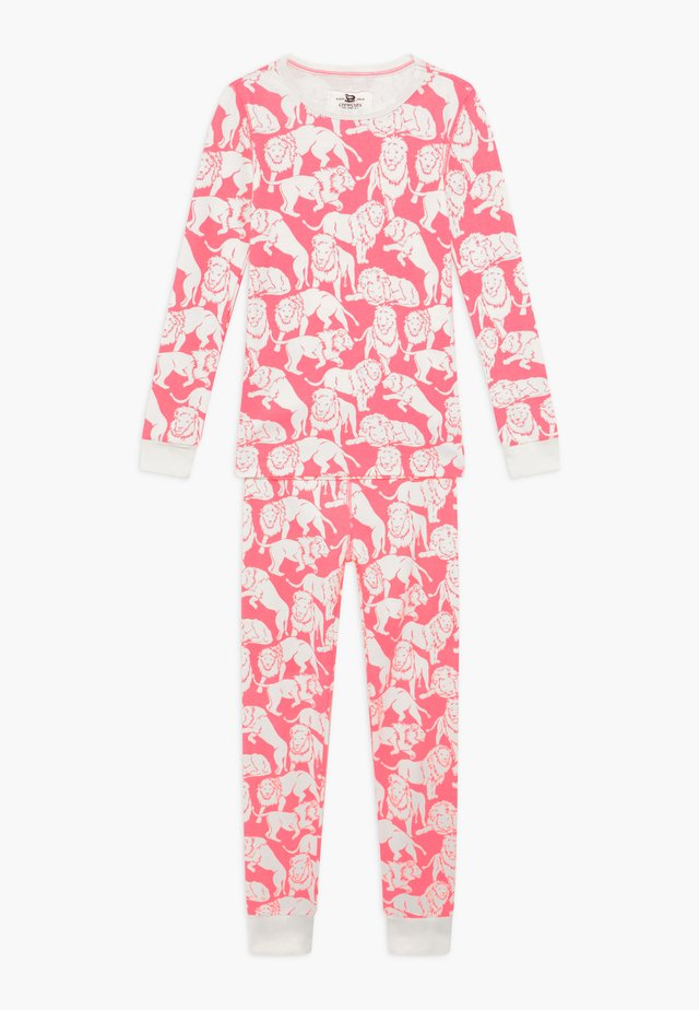 SLEEP TIGER - Pyjama set - neon pink ivory