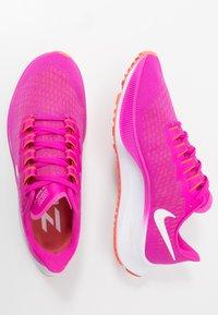Nike Performance - AIR ZOOM PEGASUS 37 - Neutral running shoes - fire pink/white/team orange/magic ember - 1