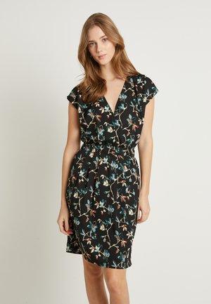 BRUCE - Day dress - black dark/florals combo