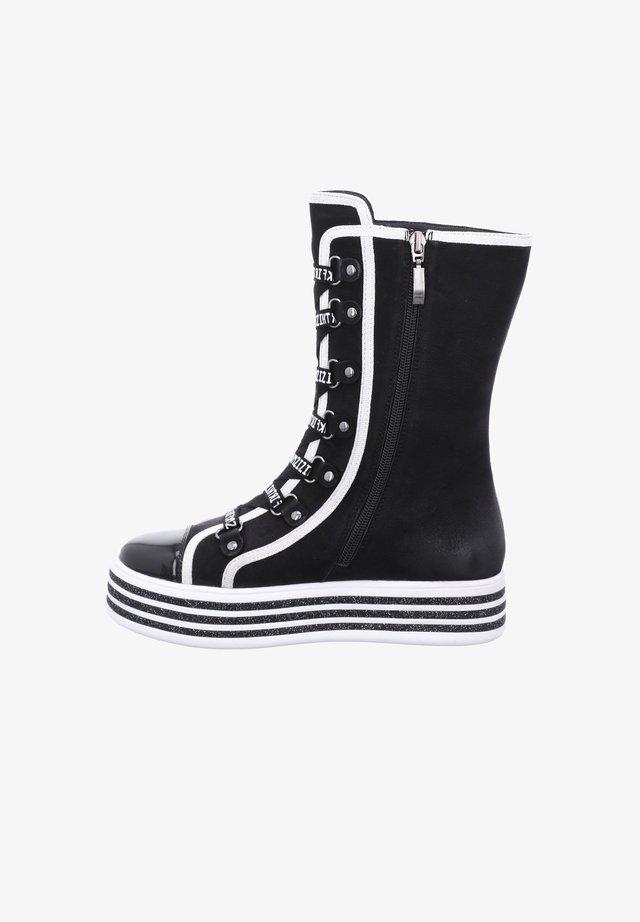 PAVIA  - Platform boots - schwarz