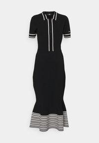 KARL LAGERFELD - FLAIR DRESS - Sukienka dzianinowa - black - 4