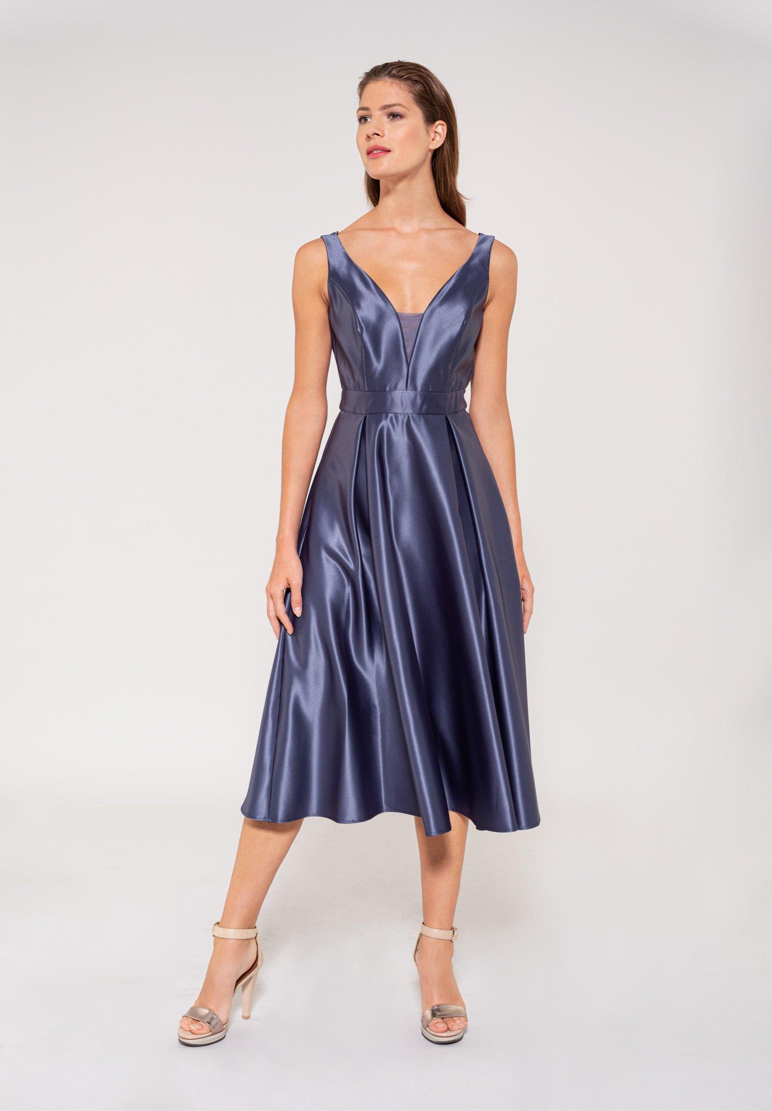 Swing Cocktailkleid Festliches Kleid Blue Dust Blau Zalando De