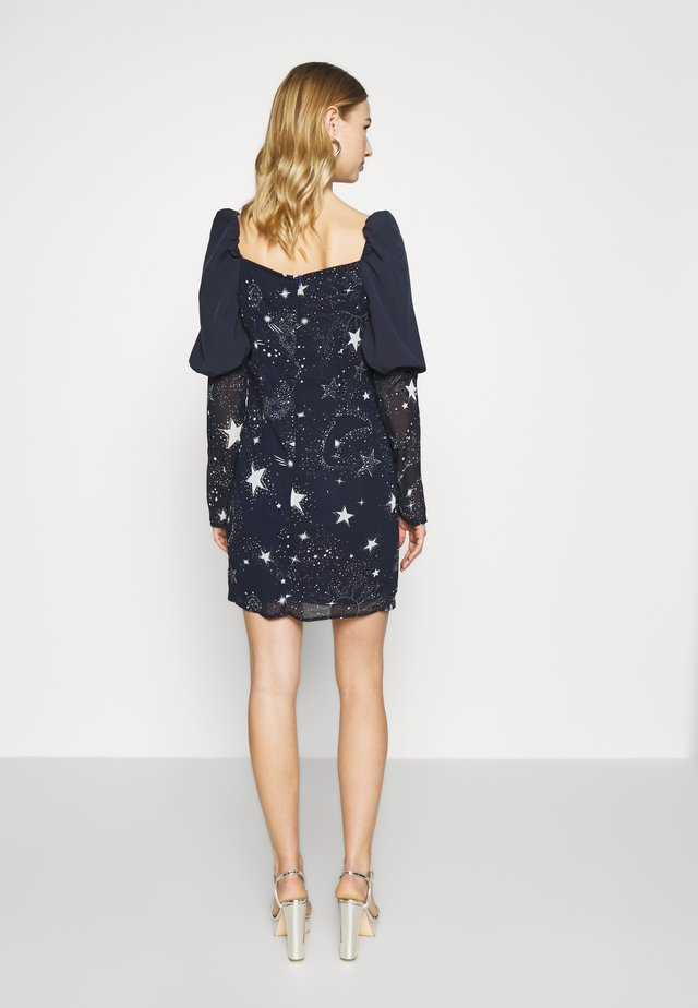 ASTRO PUFF SLEEVE MINI DRESS - Cocktail dress / Party dress - navy