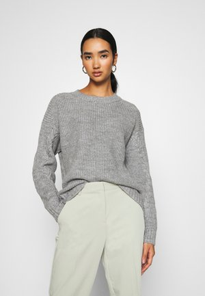 NMJIMMA O NECK - Strikkegenser - light grey