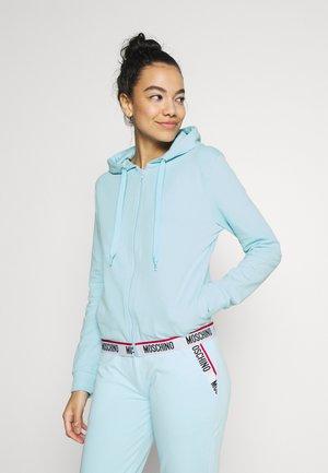 ZIPPED HOODIE - Pyjama top - light blue