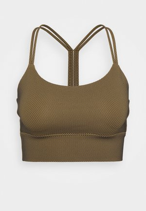 MEDIUM IMPACT ECLIPSE LONGLINE BRA - Sports bra - ripe olive