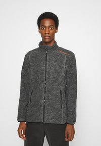 INDICODE JEANS - BRYANT - Fleece jacket - charcoal mix - 0