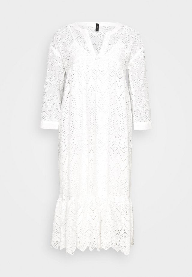 YASMILIVANNA 3/4 DRESS TALL - Day dress - white
