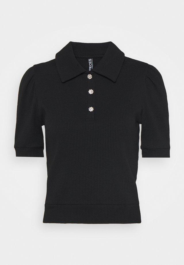 PCSUMI - T-shirt con stampa - black