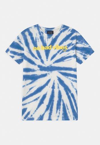 TEEN - Print T-shirt - offwhite/dark ocean