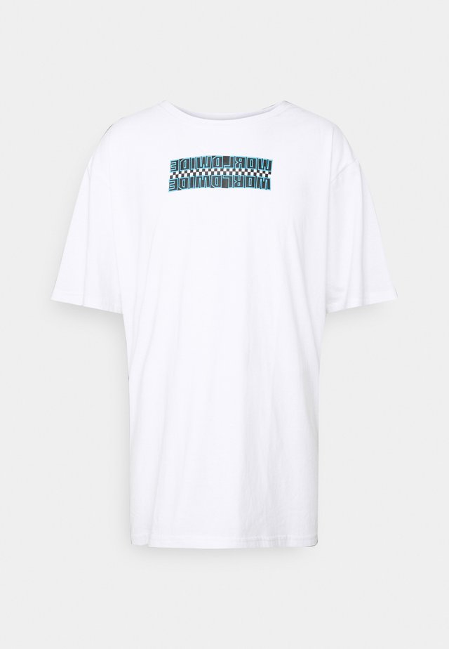 FRONT & BACK GRAPHIC OVERSIZED TEE - T-shirt print - white