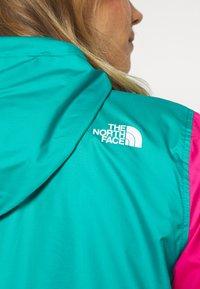 The North Face - WOMENS FANORAK - Windjack - flame orange/jaiden green/mr pink - 6
