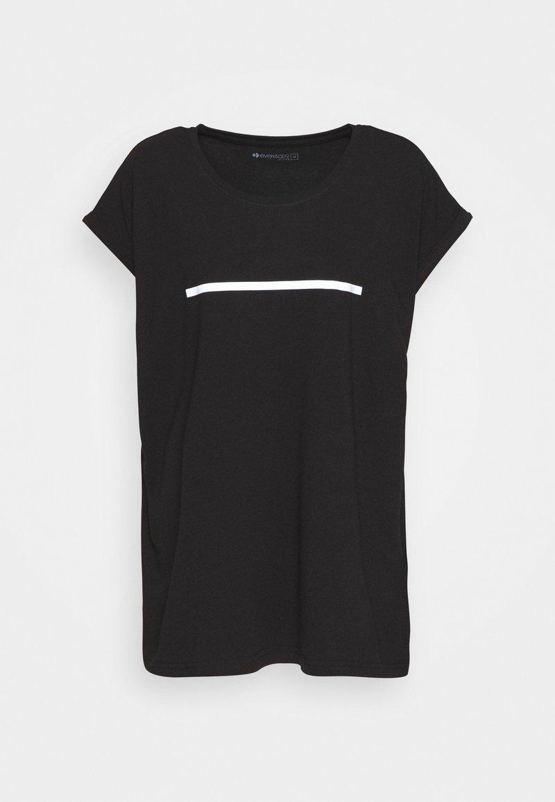 Even&Odd active - Camiseta estampada - black