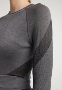 PYUA - Long sleeved top - grey melange - 3