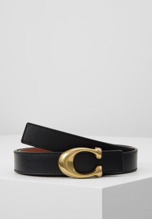 SCULPTED REVERSIBLE BELT - Pásek - saddle
