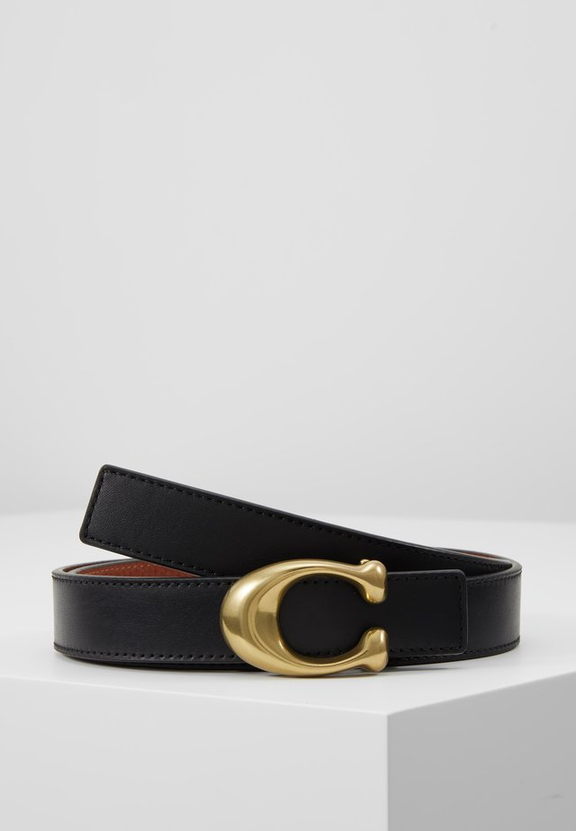 SCULPTED REVERSIBLE BELT - Riem - saddle