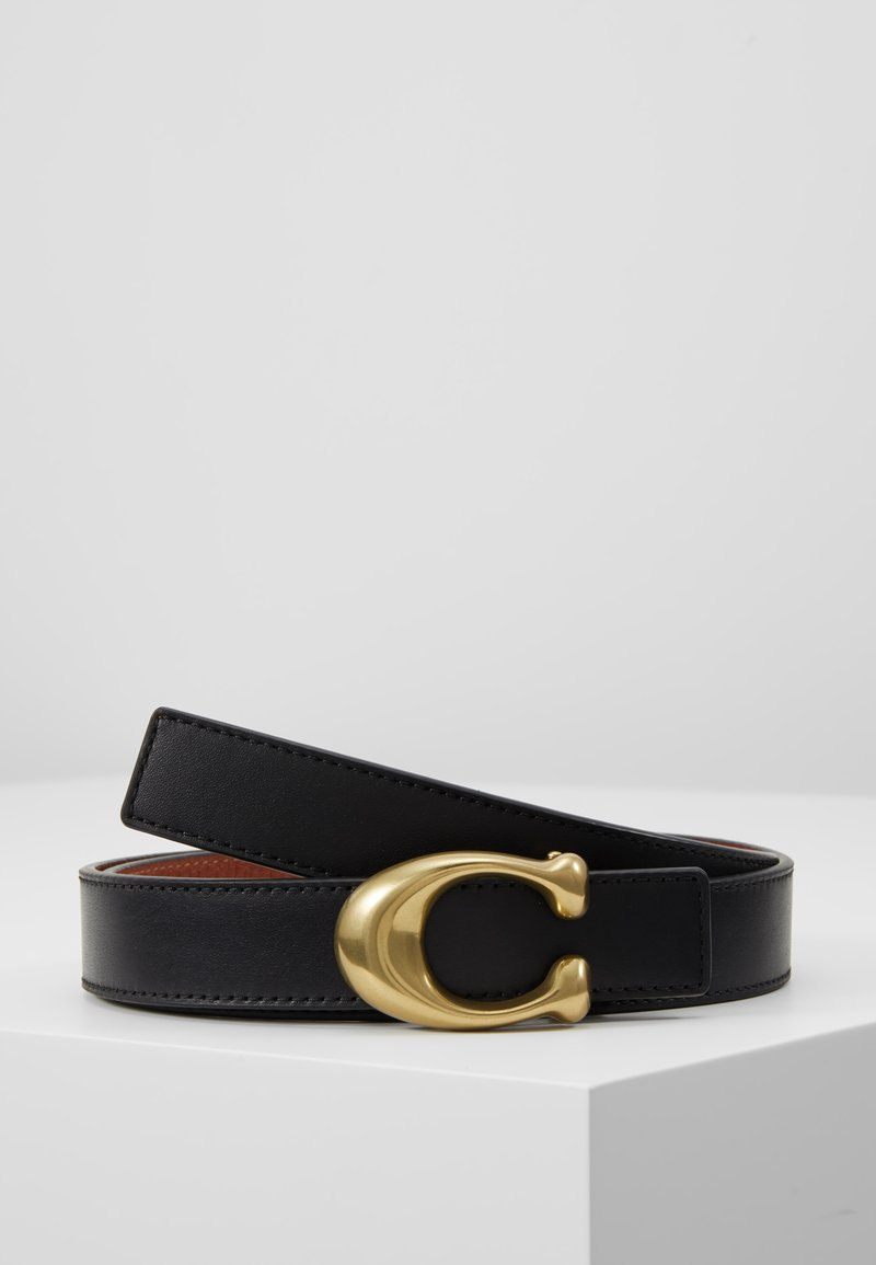 Coach - SCULPTED REVERSIBLE BELT - Gürtel - saddle