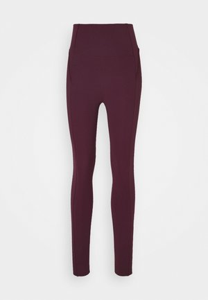 YOGA 7/8 - Tights - night maroon/team red