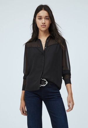 NAIA - Button-down blouse - black