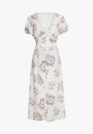 FLORAL MIDI DRESS - Denní šaty - white/lilac